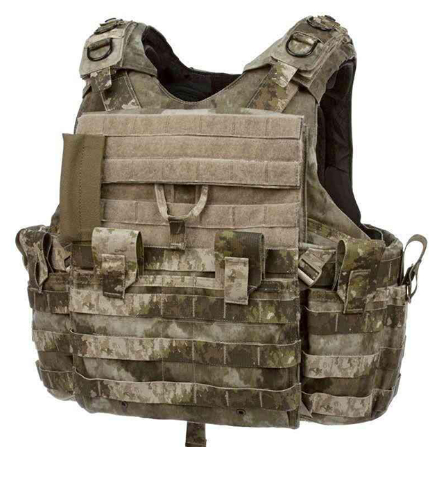 What is the bulletproof vest made of?